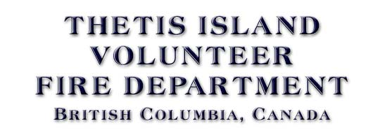 THETIS ISLAND VOLUNTEER FIRE DEPARTMENT, British Columbia, Canada