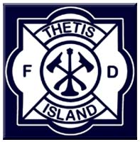 THETIS ISLAND VOLUNTEER FIRE DEPARTMENT logo and badge